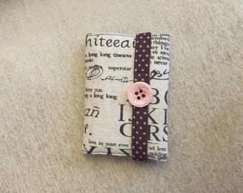 Custom handmade Linen fabric Credit Card Holder/Wallet