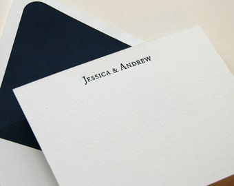 Personalized Custom Stationery - 1color - Block
