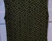 disco sweater vest gold metallic 1970s seventies women knit