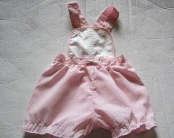 Vintage Baby girls Sunsuit Romper 3M Pink Floral