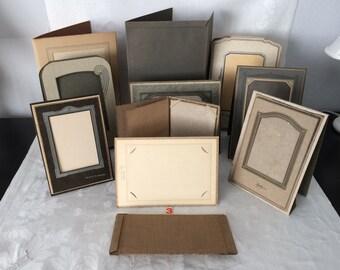 Vintage Cardboard Folding Photo Frames...Lot of 11...Wedding Table Number Holders...Keepsake Photos...Lot #3