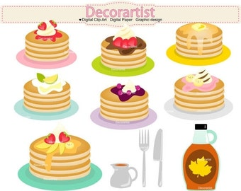 ON SALE Pancake clipart, pancakes clipart, pancake party clipart, pancakes clipart, INSTANT Download