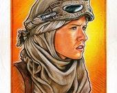 Rey the Scavenger original painting