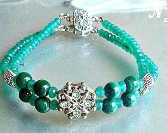 Green Malachite/ Green Onyx bracelet