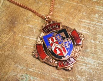 Unique Necklace - Vintage Royal Masonic Badge - Pendant Necklace by Steampunk Vintage Design