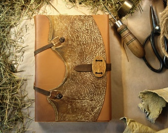 "Large Leather Journal Gift for Him Rustic Cowboy Wild West Ranch Journal, Huge Notebook Diary Vintage Style Aged Pages - ""The Farrier"""