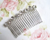 Silver Rhinestone Bridal Hair Comb,Rhinestone Wedding Hair Comb,Bridal Hair Accessories,Wedding Accessories,Decorative Hair Comb,#C31
