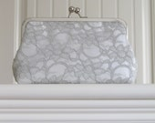 Bridal White Silk And Grey Lace Clutch,Bridal Accessories,Wedding Clutch,Bridal Clutch,Bridesmaid Clutches