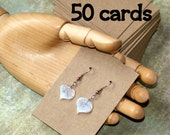 """Earring Cards (50) ... 2.5"""" x 3.5"""" Lightweight Kraft Chipboard Recycled Cardstock Thick Kraft Cards Seller Supplies Earring Display Cards"""