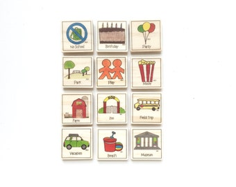 Fun Days - Magnet Set of 12 - Calendar Magnets
