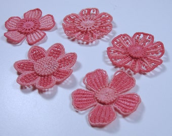 Lace Flowers - Light Coral