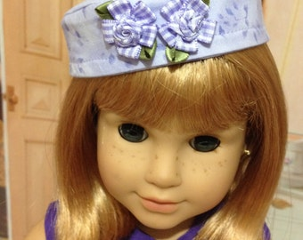 """SAle  AG """"Lavender Lady"""" 1950's dress and pill box hat fits American girl doll and other 18 inch similar doll"""