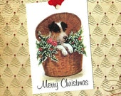 Christmas Tags, Dog Lover, Terrier, Gift Tags, Merry Christmas