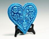 Valentines Gift Valentines Springerle Heart Ornament Valentines Heart Chalkware Ornament Chalkware Heart Ornament Springerle Heart