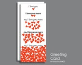 I Love You More, anniversary card, funny anniversary, romantic anniversary, sweetest day card, romantic birthday, adult card, Valentine card