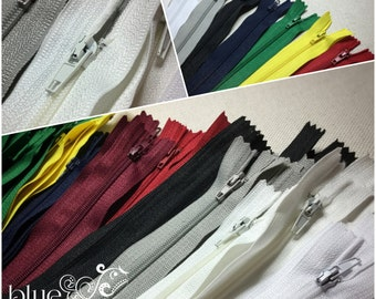 "STOCK - 10 Zippers, 7"" - mixed colors"