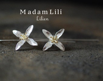 "925er Silver Earrings ""LILY"""