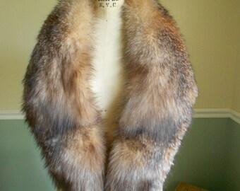 Fox Fur Collar / Multi Brown Fox Collar / Hugh Fox Collar