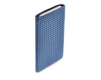 iPhone 8 case, iPhone X case, iPhone 8 Plus case, iPhone 6S case, iPhone 6S Plus case, iPhone SE case, Alcantara Blue
