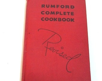 The Revised Rumford Complete Cook Book by Lily Haxworth Wallace, 1936 Cookbook