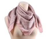 GRAPHIC SILK Scarf 70s Minimalistic Normcore Vintage Abstract Print Pink Grey Kerchief Unisex Muffle Printed Neckwear Retro Neck Scarf Gift