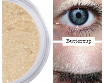 Loose Eye Pigment, BUTTERCUP, Muted Yellow Gold, Natural Eye Shadow, Natural Eyeshadow, Eye Color Pigment, Loose Pigment, Mineral Makeup
