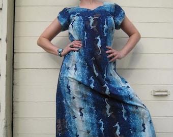 Vintage Hawaiian Caftan Dress