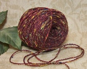 Grape Harvest Yarn, Novelty Yarn, Wine with Multi-Colors, Fingering, Light Sport Weight, BIN F