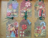 Christmas Gift Tags Handmade Papercraft Holiday Gifts Scrapbooks SALE