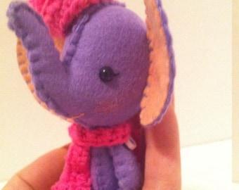 Periwinkle- Miniature Elephant Plushie
