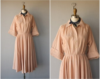 Vintage 1970s Dress | 70s Midi Dress | Shirtwaist Dress | 70s Dress
