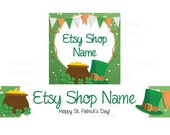 Etsy Banners - Etsy Shop Banners - St Patricks Day Etsy Banners - Saint Patrick's Day Etsy 5 - 2 Piece Set