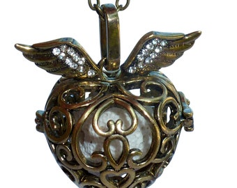YOur perSOnal STYlish Essential oil necklace diffuser Steampunk Golden heart  d2 0