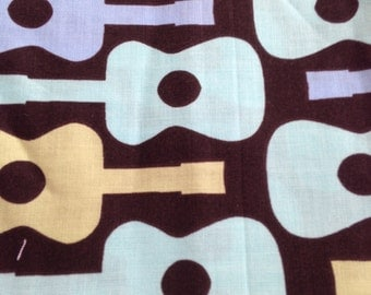 Destash Groovy Guitars Fabric Print 12 x 44