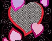 SWEETHEARTS #8- 1 Machine Embroidery Design Instant Download 4x4 5x7 6x10 hoop (AzEB)