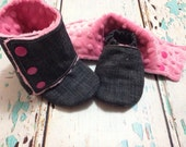 Size 18-24 month crib booties