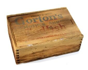 Vintage Gorton's Mother Ann Brand Codfish Box