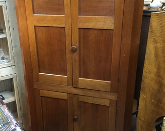 Antique American cherry blind corner cabinet 44w18d76h Shipping is Not free
