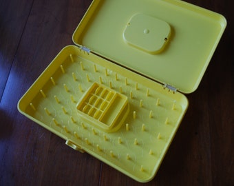 Vintage Sunny Yellow Plastic Sewing Box - Wil-hold by Wilson