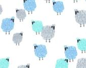 SALE - Michael Miller - Eyes on Ewe Collection - Baa Baa Baby in Blue