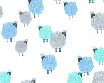 Michael Miller - Eyes on Ewe Collection - Baa Baa Baby in Blue