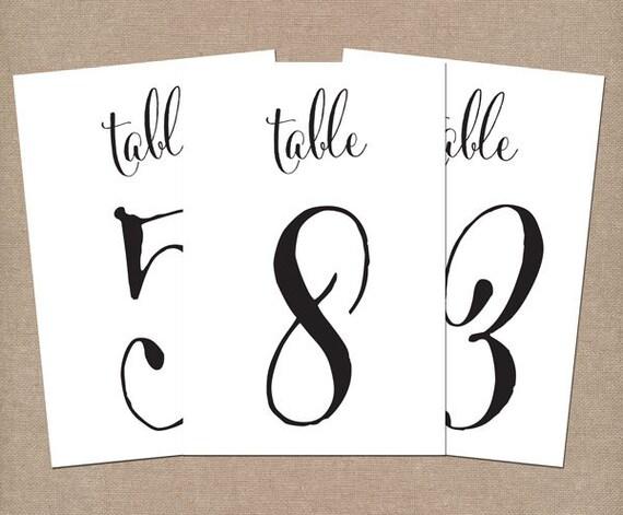 4x6 or 5x7 Custom Wedding Table Number/Wedding Table Numbers, Table Numbers, Wedding Numbers, Wedding Signs, Wedding Centerpieces