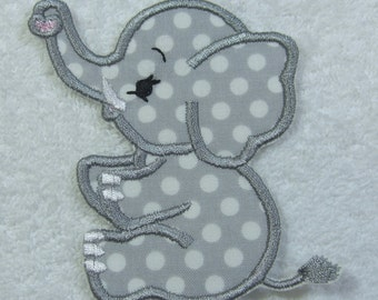 Iron on Elephant Patch Fabric Embroidered Iron On Applique Patch Ready to Ship