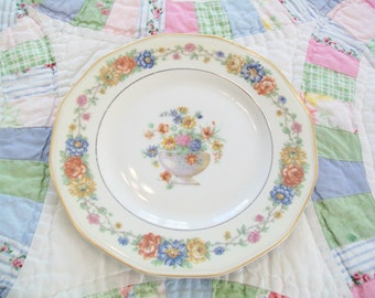 French Limoges, 1930s, Salad Plate, Theodore Haviland, Azay-le-Rideau