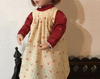 Early 1900's Style Dress with Apron for 16 inch doll