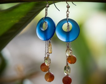 Ocean SunBurst Earrings