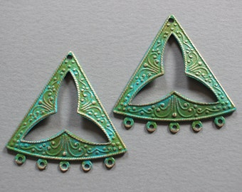 Verdigris Patina Art Deco Chandelier Findings