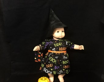 Doll Clothes for American Girl Bitty Baby Bitty Twin or Some Other 15 Inch Dolls, Itty Bitty Witch Halloween Costume
