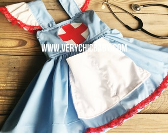 Nurse Costume Custom RN LVN Dress Candy Striper