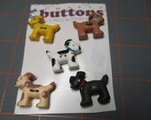 Dog/Puppy Buttons - Set Of 5
